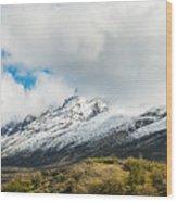 Mountain View Patagonia Chile Wood Print