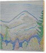 Mountain View.switzerland 1995 Wood Print