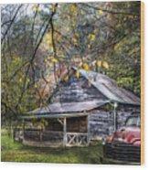 Mountain Vintage Wood Print