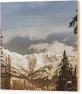 Mountain Vista Wood Print