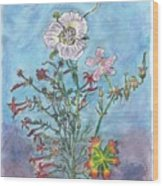 Mountain Wildflowers II Wood Print