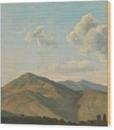 Mountainous Landscape At Vicovaro, Simon Denis Wood Print