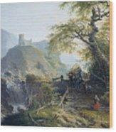Mountainous Landscape Near Duesseldorf Wood Print