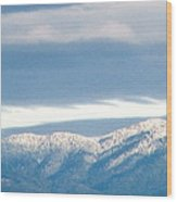 Mountainous Skies Wood Print