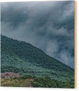 Mountains And Clouds 1350t Wood Print