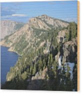 Mountains Around Crater Lake Wood Print