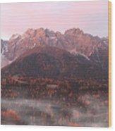 Mountains At Dawn Wood Print