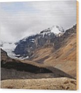 Mountains Clouds And Glaciers 2 Wood Print