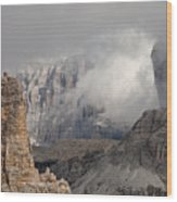 Mountains Depth 1150 Wood Print