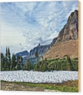 Mountains In Glacier National Park 2 Wood Print