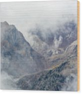Mountains In The Mist Wood Print