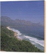 Mountains Meet Ocean On The Garden Wood Print