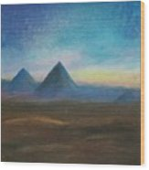 Mountains Of The Desert I Wood Print