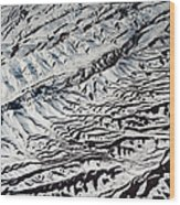 Mountains Patterns. Aerial View Wood Print
