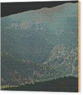 Mountains Peeking Through Wood Print