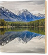 Mountains Reflected In The Lake Wood Print