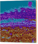 Mountains Sky D5 Wood Print