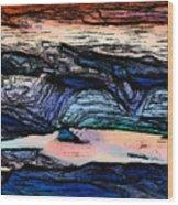 Mountains Valleys And Lake Wood Print