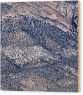 Mountainside Abstract - Red Rock Canyon Wood Print