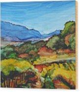 Mountainside Vineyard Wood Print