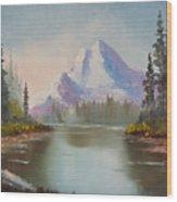 Mountaintop Wood Print