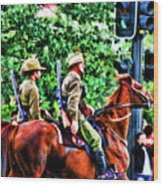 Mounted Infantry Wood Print