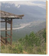 Mountian Lookout Wood Print