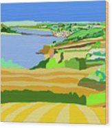 Mounts Bay Cornwall Wood Print