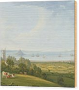 Mounts Bay From Ludgvan Wood Print