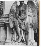 Mourning Angel Wood Print