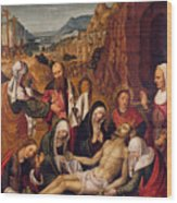 Mourning Over The Dead Body Of Christ Wood Print