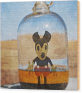 Mouse In A Bottle  Wood Print by Jerry Cordeiro