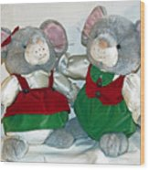 Mouse Love Wood Print