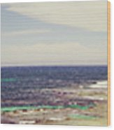 Mouth Of Margaret River Beach Panorama Wood Print