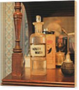 Mouth Wash In The Old Days Wood Print