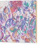 Movement In B Flat Wood Print