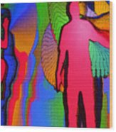 Human Movement In Color Wood Print