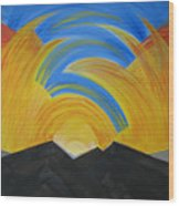 Movement Of A Sunset Wood Print