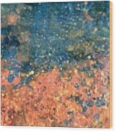 Movement Of Color Vii Wood Print