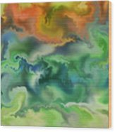 Movement Of The Natural World Wood Print