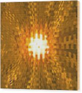 Moveonart Abstract Retro Light Action 2 Wood Print