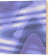 Moveonart Blu Wave Focus Wood Print