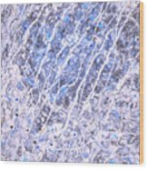 Moveonart Blue Cool Purifying Soul Wood Print