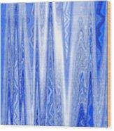Moveonart Blue Dream Frequency Wood Print