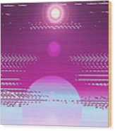 Moveonart Calming Cosmic Centering One Wood Print