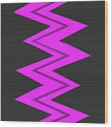 Moveonart Electricpurple Wood Print