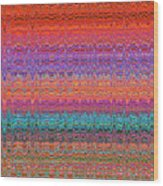 Moveonart Future Indian Voice Wave Quilt Wood Print