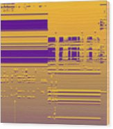 Moveonart Gold Data Wood Print