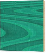 Moveonart Green Pathways 1 Wood Print