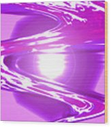 Moveonart I Call Forth The Violet Wave Wood Print